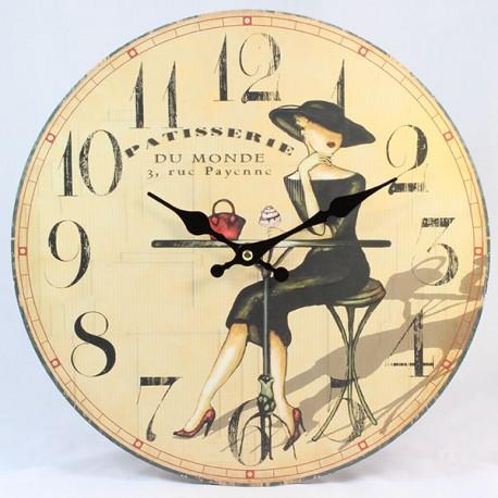 Nástěnné hodiny Patisserie 17 cm