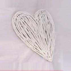 Ratanové srdce bílé 37 cm