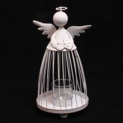 Kovový svícen Anděl 24 cm
