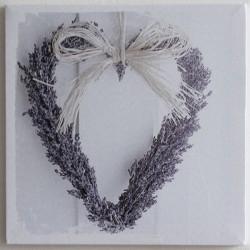 Obraz Levandulové srdce 28 cm