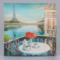 Obraz na plátně Posezení nad Seinou 38 cm