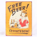 Plechová cedule Free Beer