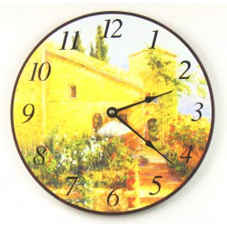 Nástěnné hodiny Zahrada