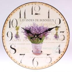 Nástěnné hodiny Levandule z Bonnieux 34 cm