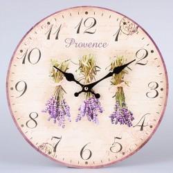 Nástěnné hodiny Svazky levandulí 34 cm