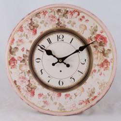 Nástěnné hodiny Vintage růže 34 cm