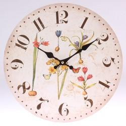 Nástěnné hodiny Cibulové květiny 34 cm