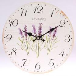 Nástěnné hodiny Lavande - levandule 34 cm