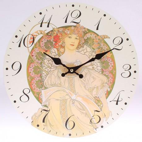 Nástěnné hodiny Alfons Mucha - F. Champenois 34 cm