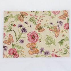 Textilní prostírání Květiny a motýli