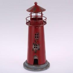 Kovový svícen Maják 22 cm, červený