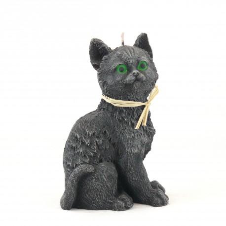 Svíčka Kočka černá, 17cm