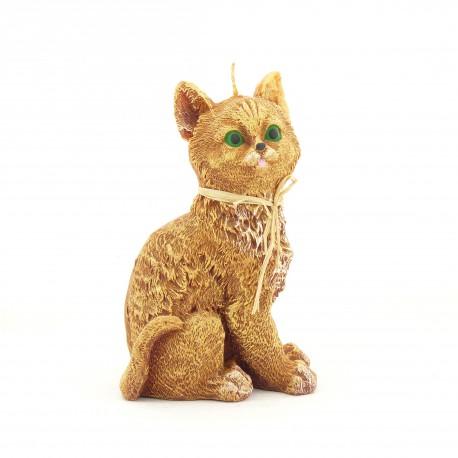 Svíčka Kočka žlutá, 17cm