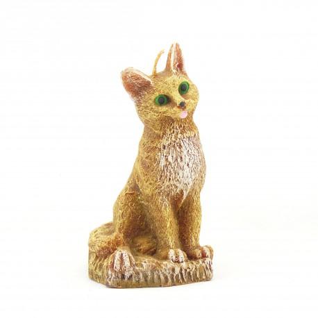Svíčka Kočka žlutá, 14cm