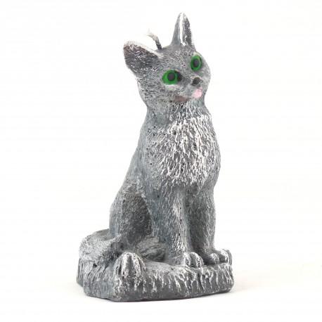 Svíčka Kočka šedá, 14cm