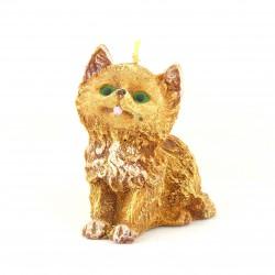 Svíčka Koťátko žluté, 10cm