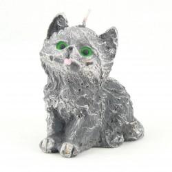 Svíčka Koťátko šedé, 10cm