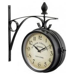 Oboustranné hodiny New York Grand Central, černé