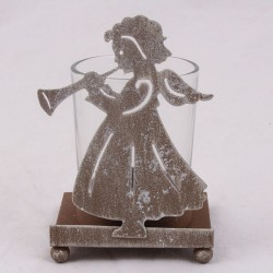 Kovový svícen Andělíček 10,5 cm