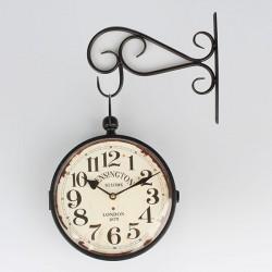 Oboustranné hodiny Kensington Station 24 cm