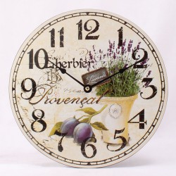 Dřevěné hodiny L herbier Provencal 30 cm