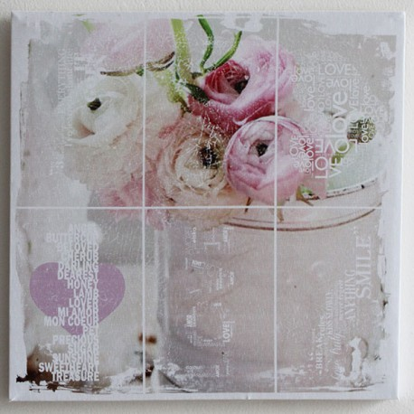 Obraz na plátně Růže 28 cm