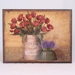 Obraz na lněném plátně Kytice tulipánů