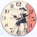 Dřevěné hodiny Patisserie du Monde 34 cm