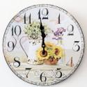 Nástěnné hodiny Květiny 34 cm